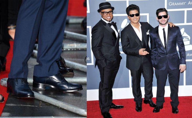 hombres bajos en alfombra roja zapatos de piso con tacón