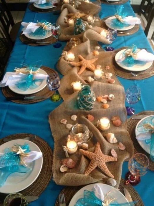 Decoración al estilo de La Sirenita para una boda