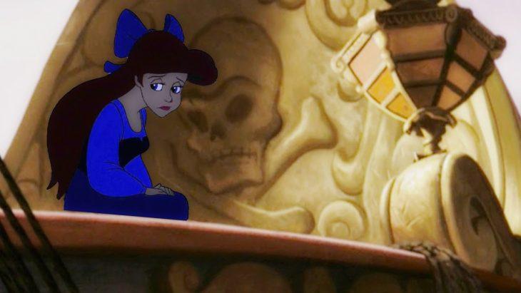 escena de la película de La Sirenita