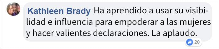 comentario en Facebook Lady Gaga