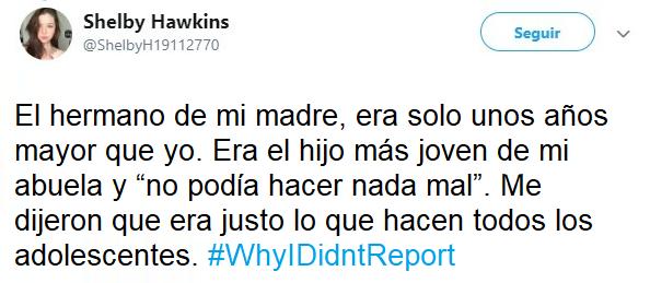 comentarios movimiento #WhyIDidntReport