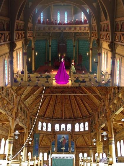 Iglesia de San Olaf, Balestrand, Noruega