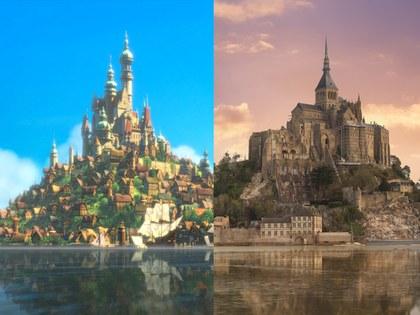 Mont Saint- Michael, Normandíalugar que inspiró la película enredados