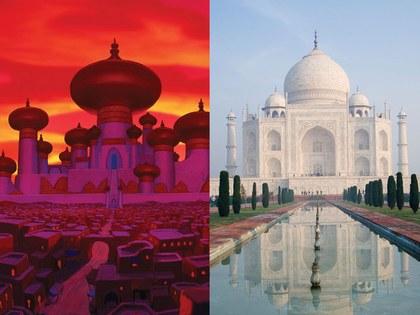 Taj Mahal, Agra, Indiaque inspiró la película de aladdin