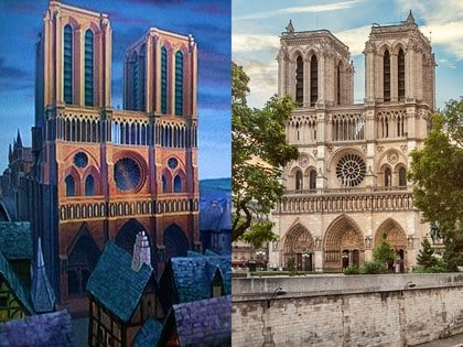 Catedral de Notre Dame, Parísque inspiró a la película del jorobado de notre dame