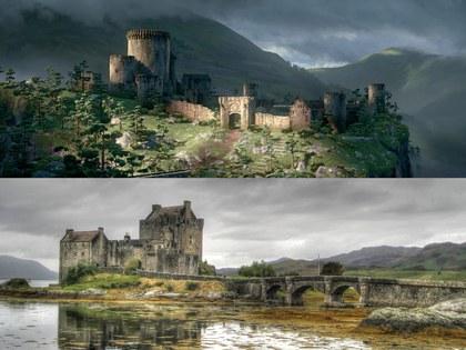 Castillo de Eilean Donan, Tierras Altas de Escocia lugar que inspiró la película de valiente