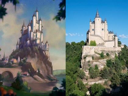 Alcázar de Segovia, España Lugar que inspiró la película de Blancanieves