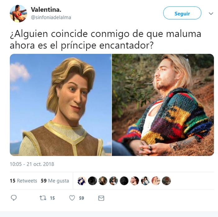 Memes de maluma por su cambio de cabello color rubio