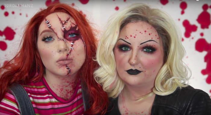 dos mujeres con maquillaje chucky