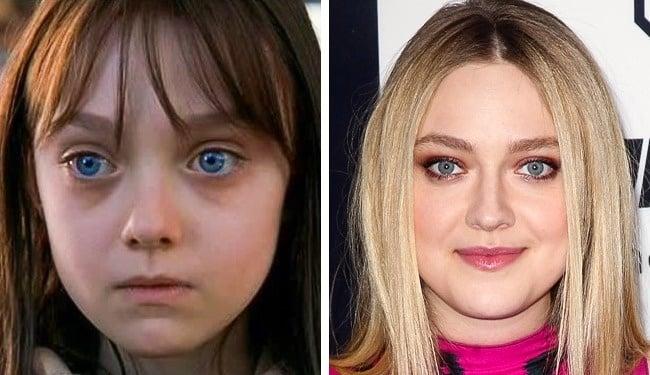 niña con ojos azules