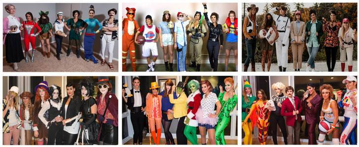 mujeres disfrazándose en halloween
