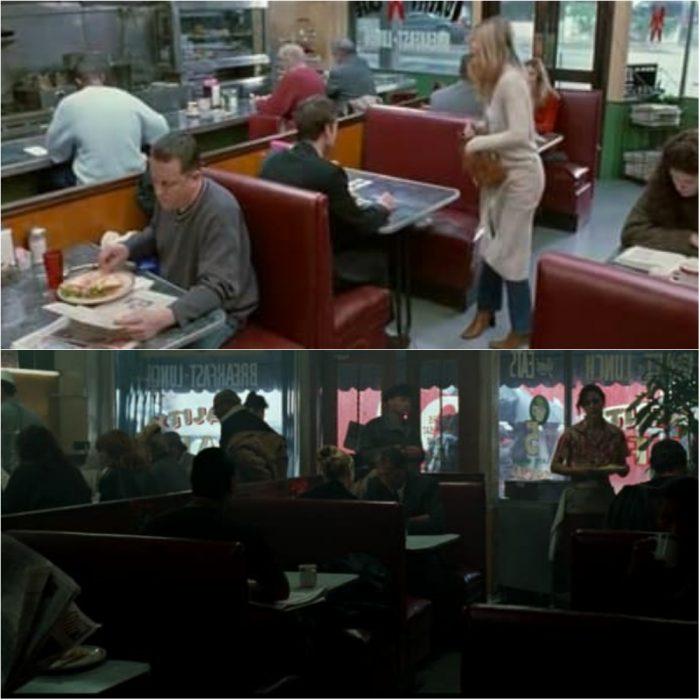 Personas en una cafetería