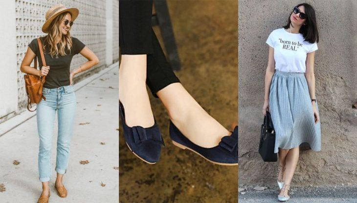 zapatos con punta almendrada