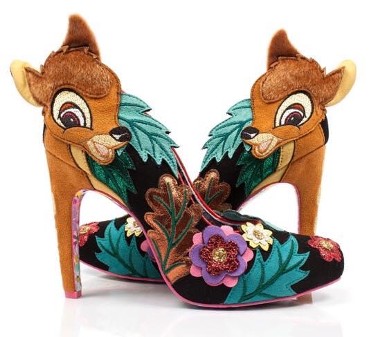 zapatos de tacón con personajes de Bambi