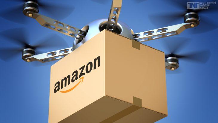 caja volando con drones amazon