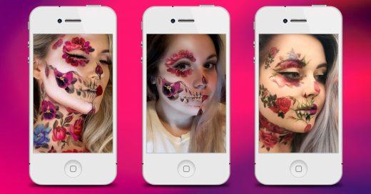Este año crea tu maquillaje de Halloween con una app