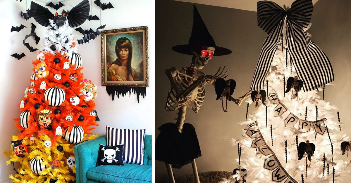 14 Árboles de Halloween que llevarán tu amor por esta fecha a otro nivel