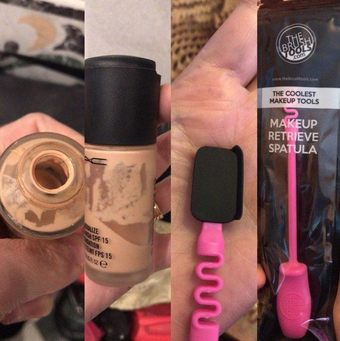 espátula para maquillaje