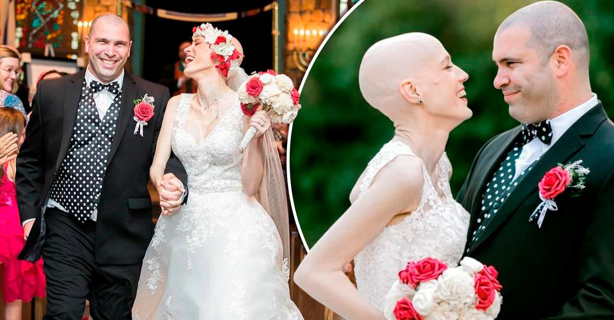 El cáncer reapareció pero milagrosamente logra llegar al día de su boda