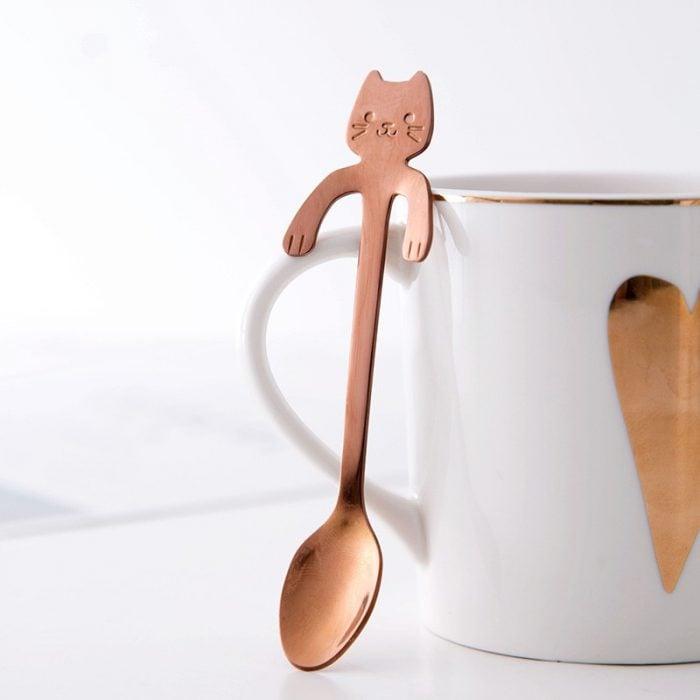 cuchara en forma de gato