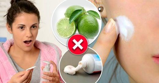 10 Hábitos que necesitas olvidar si quieres un cara con piel suave
