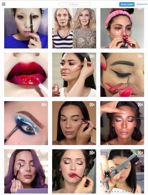 Cuentas de Instagram de maquillaje