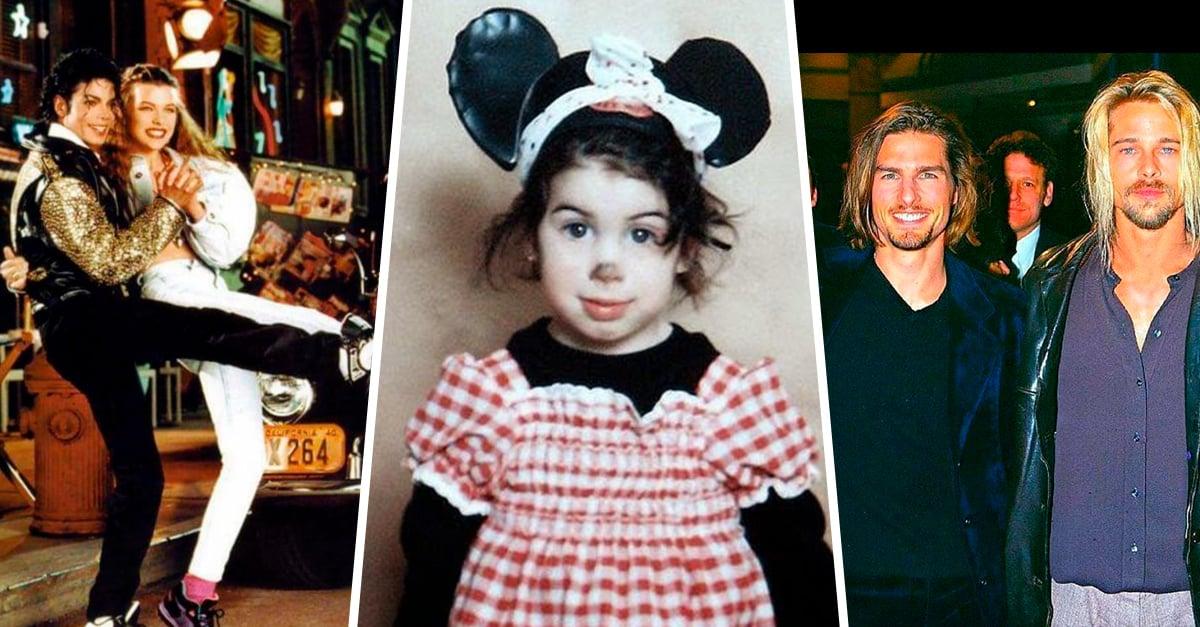 28 Fotografías raras de celebridades que te dejarán con el ojo cuadrado
