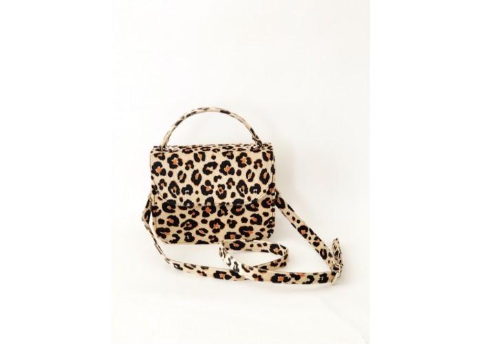 bolso con estampado de leopardo