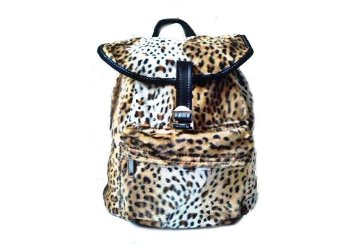 mochila con estampado de leopardo