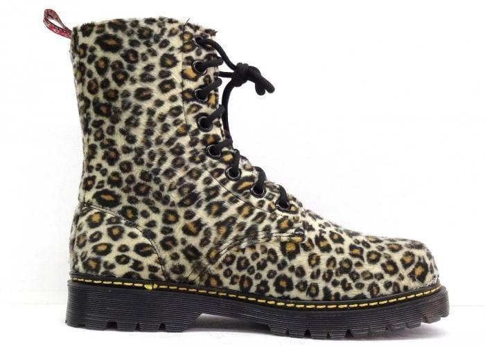 botas de estampado de leopardo