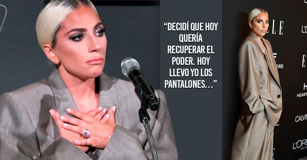 Lady Gaga decidí que hoy quería recuperar el poder. Hoy llevo yo los pantalones…
