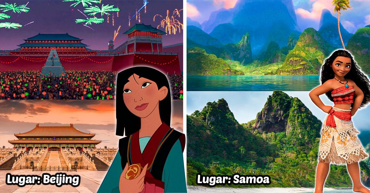 15 Lugares que inspiraron las películas de Disney