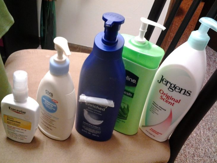 cinco tipos de crema corporal