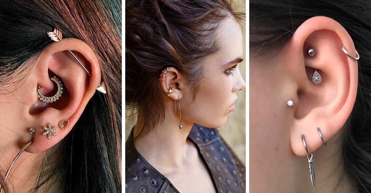 16 Fotos de piercings en la oreja que te convencerán de hacerte otro
