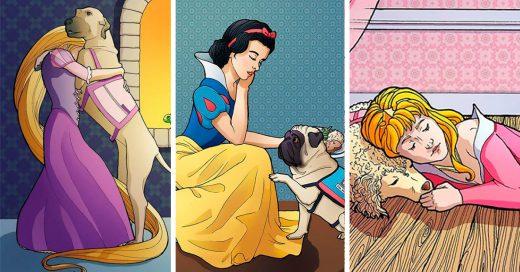 Esta artista ilustró a las princesas de Disney de una manera diferente