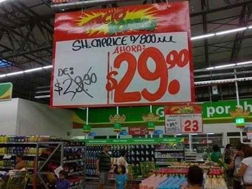 Letrero de ofertas de supermercado