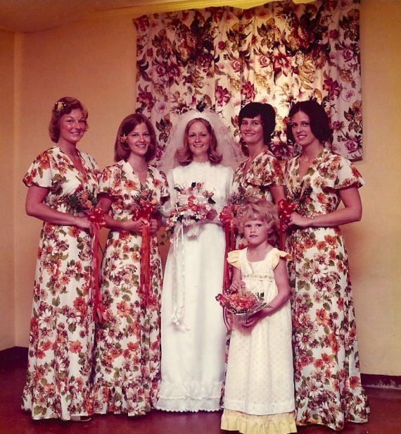 Chica en su foto de bodas