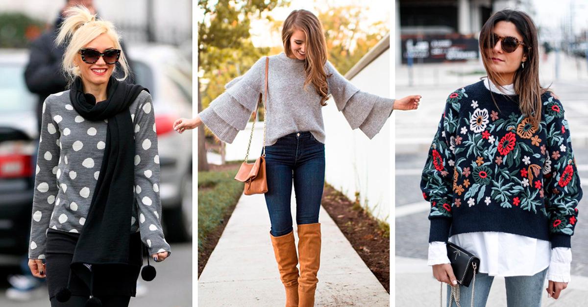 20 Lindos suéteres que no pueden faltar en tu guardarropa; ¡dale un toque chic al invierno!
