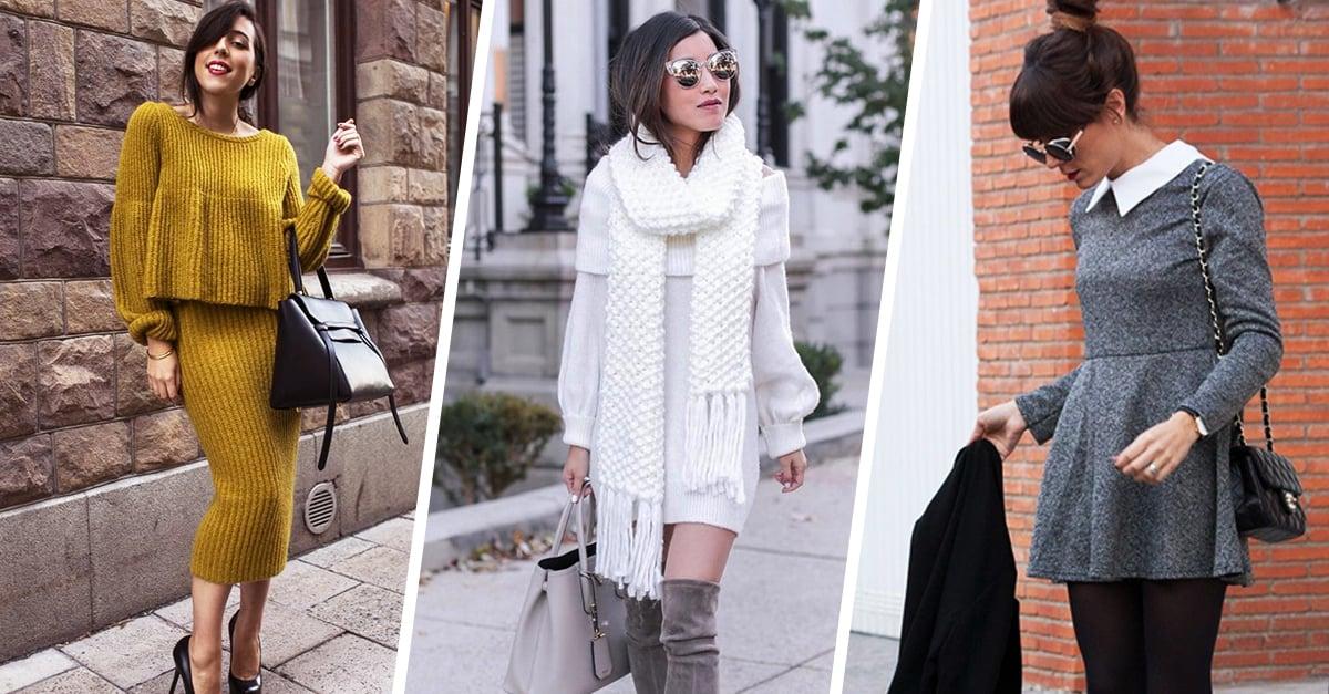 14 Vestidos calientitos que se llevan bien con el invierno
