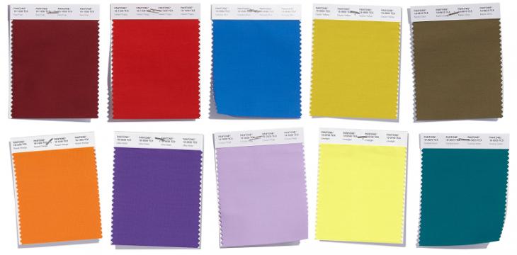 paleta de colores con pantone