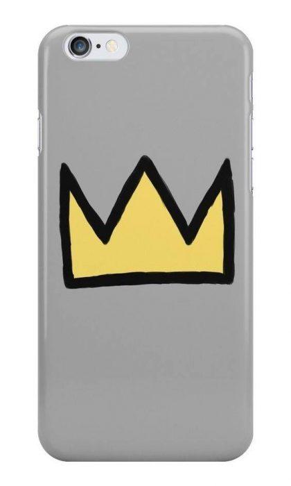 phone case en forma de corona amarilla