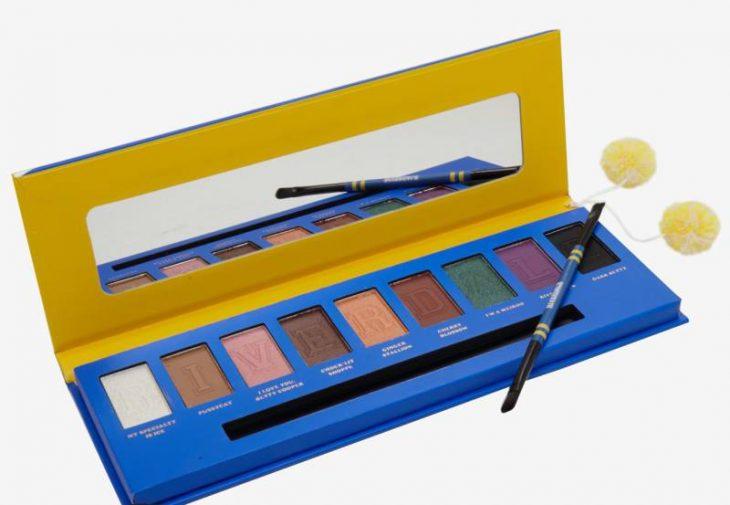 set de sombras de colores azul y amarillo