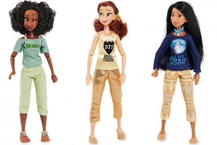 muñecas princesas tiana bella y pocahontas