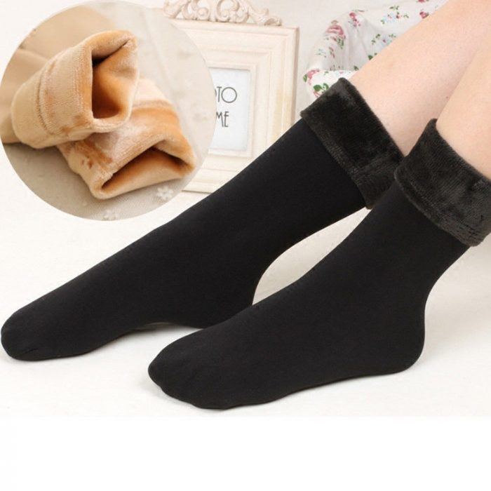 Calcetas negras térmicas de terciopelo