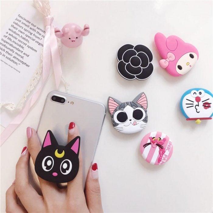 Popsocket para celular inspirado en la caricatura de Sailor Moon