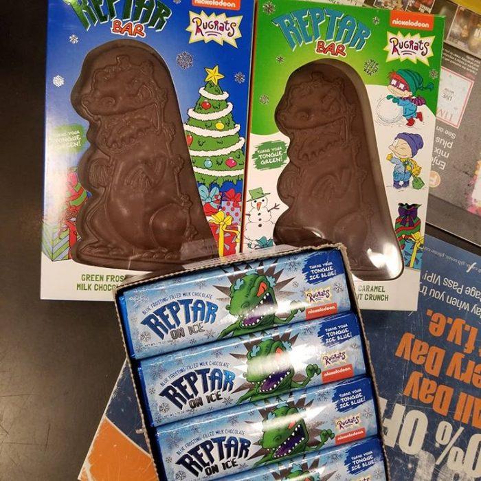 chocolate en forma de dinosaurio