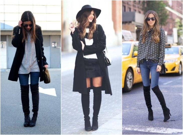 chicas usando botas con diseño XL