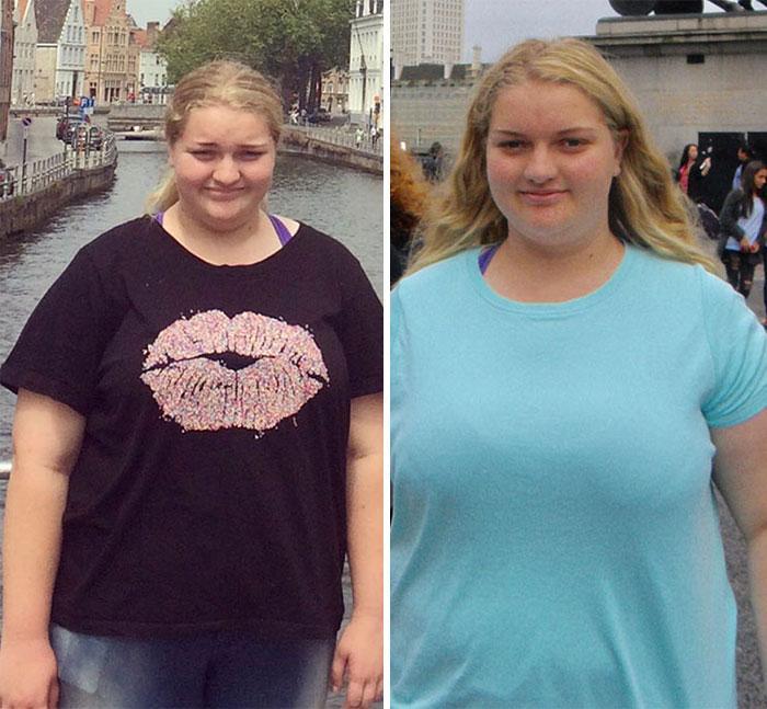 Josie Desgrand chica que pesaba 127 kilos cuando tenía 16 años