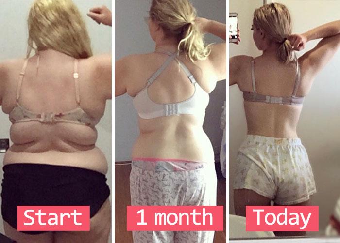 Evolución de una chica que perdió peso