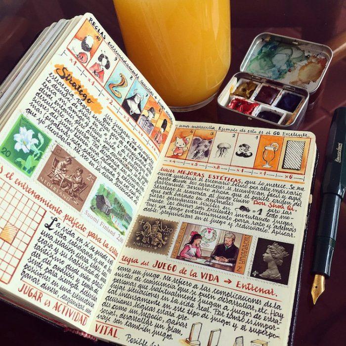 cuaderno con ortografía perfecta
